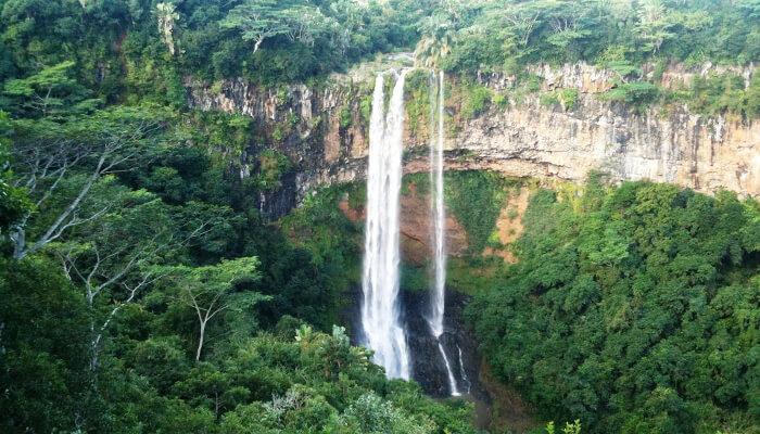 Fossefall i Mauritius