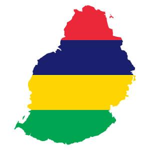 Flaggkart over Mauritius.