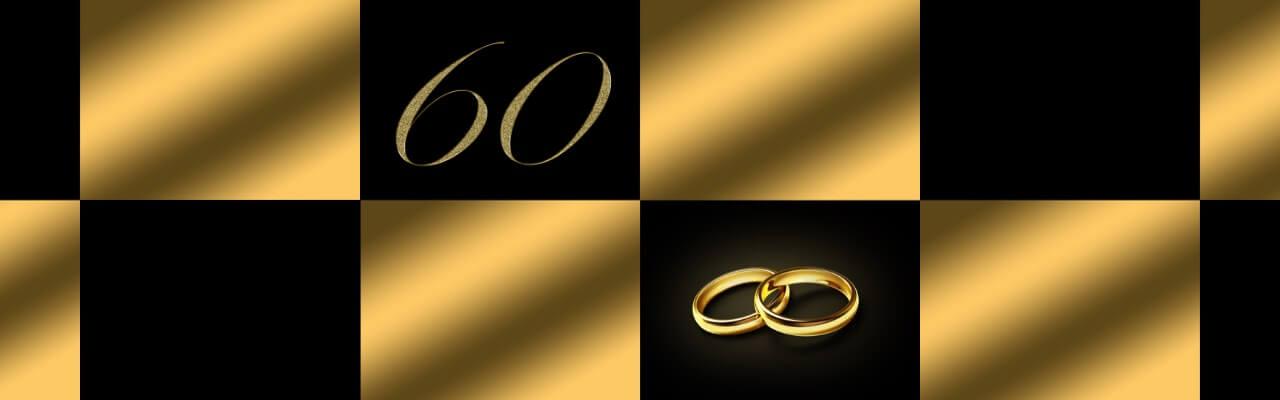 Bilde som illustrerer 60 års bryllupsdag.