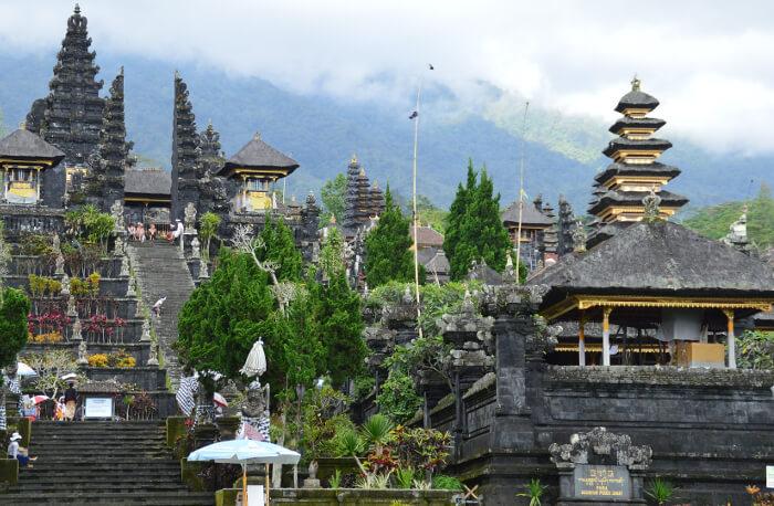 Pura Besakih tempelet.