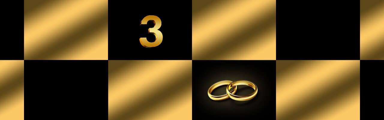 Bilde som symboliserer tre års bryllupsdag.