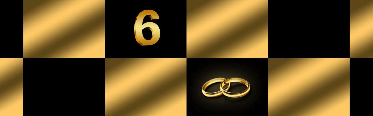 Bilde som illustrerer 6 års bryllupsdag.