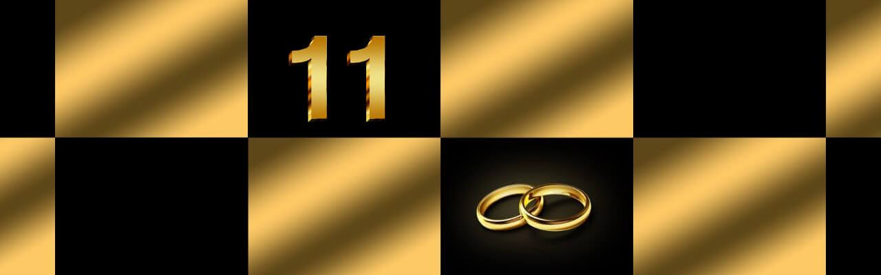 Bilde som illustrerer 11 års bryllupsdag.